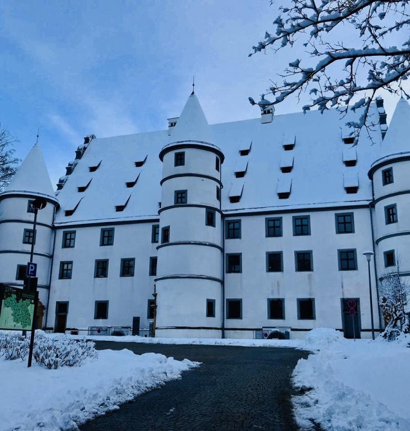 Schloss Friedrichsburg im Winter